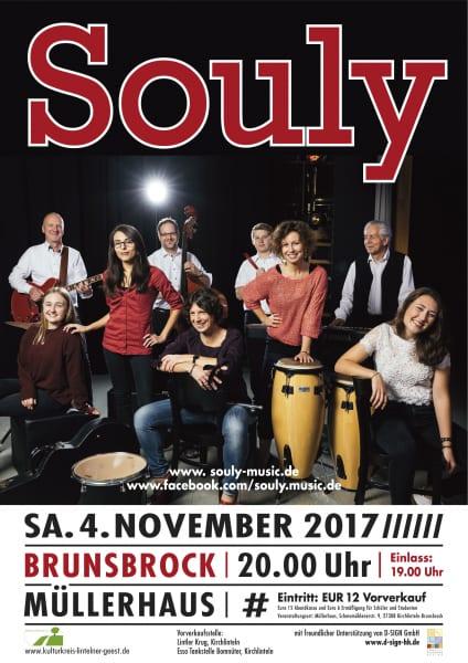 Die Souly-Band kommt am 4. November ins Müllerhaus Brunsbrock